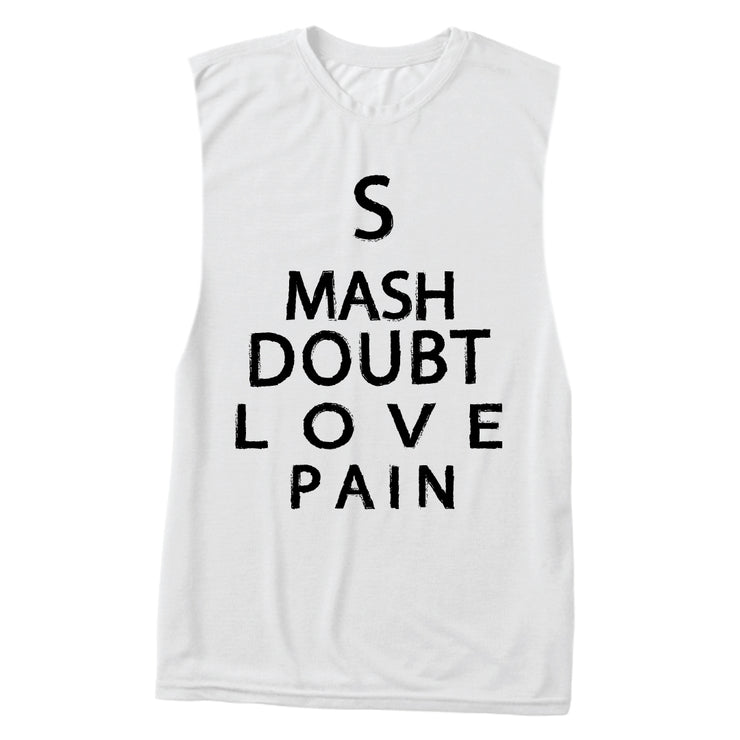 """Smash Doubt"" Muscle Tank"