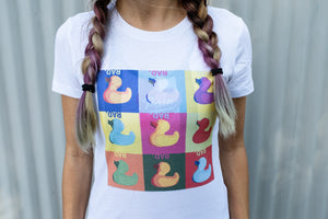 """Pop Duck"" FITTED TEE"
