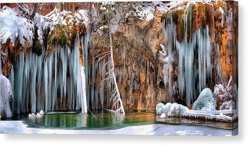 A Spring That Knows No Summer. - Hanging Lake Print - Canvas Print
