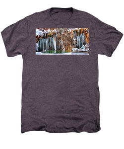 A Spring That Knows No Summer. - Hanging Lake Print - Men's Premium T-Shirt