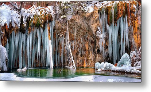 A Spring That Knows No Summer. - Hanging Lake Print - Metal Print