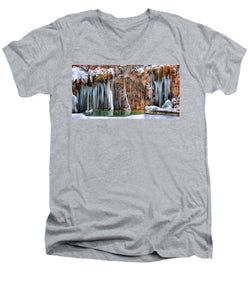 A Spring That Knows No Summer. - Hanging Lake Print - Men's V-Neck T-Shirt