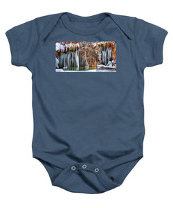 A Spring That Knows No Summer. - Hanging Lake Print - Baby Onesie