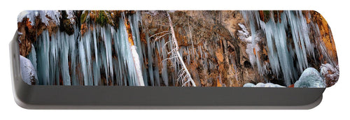 A Spring That Knows No Summer. - Hanging Lake Print - Portable Battery Charger