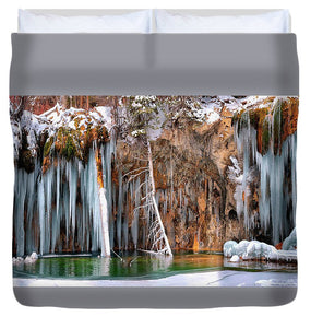 A Spring That Knows No Summer. - Hanging Lake Print - Duvet Cover