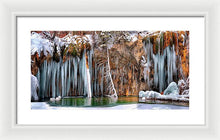 A Spring That Knows No Summer. - Hanging Lake Print - Framed Print