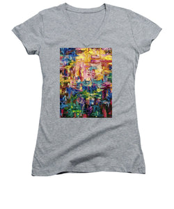 Abstract - Colorful World - Women's V-Neck T-Shirt