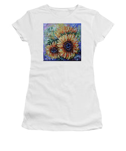 Ah, Sunflower By Lena Owens - Women's T-Shirt (Athletic Fit)