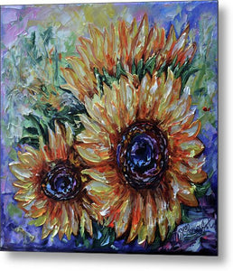 Ah, Sunflower By Lena Owens - Metal Print