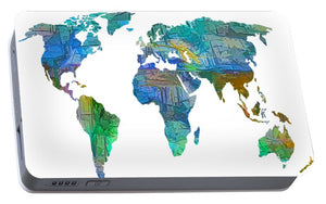 Blue World Transparent Map - Portable Battery Charger