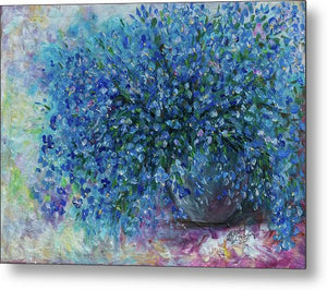 Bouquet Of Forget Me Nots - 2 - Metal Print