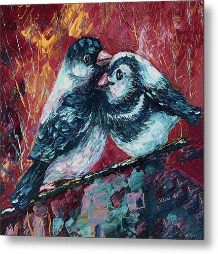Love Birds   - Metal Print