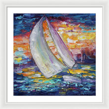 Sailing Boat - Framed Print