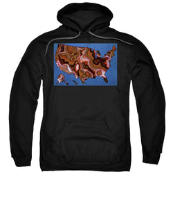 United States Artistic Map  - Sweatshirt
