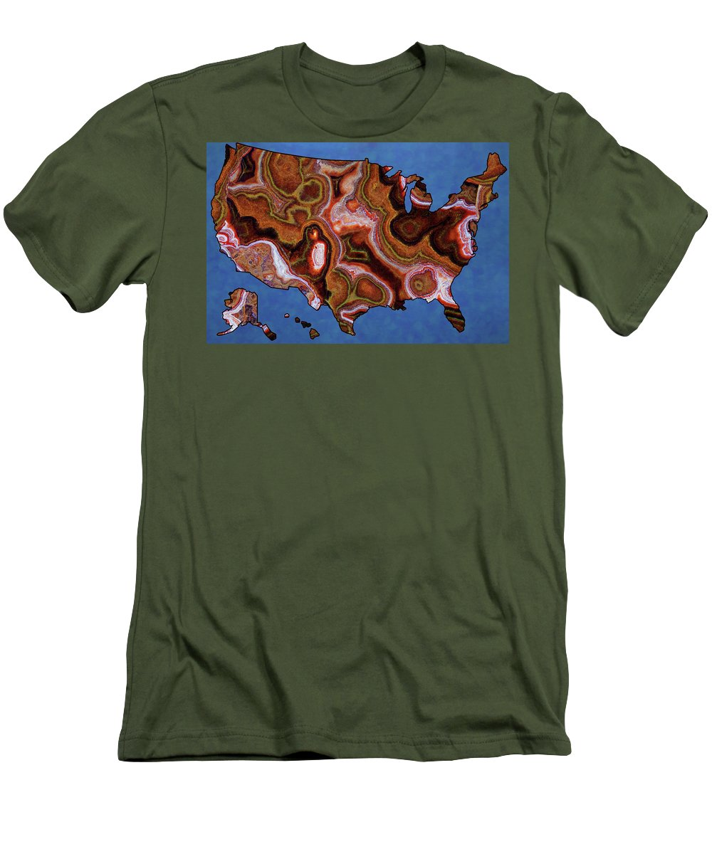 United States Artistic Map  - Men's T-Shirt (Athletic Fit)