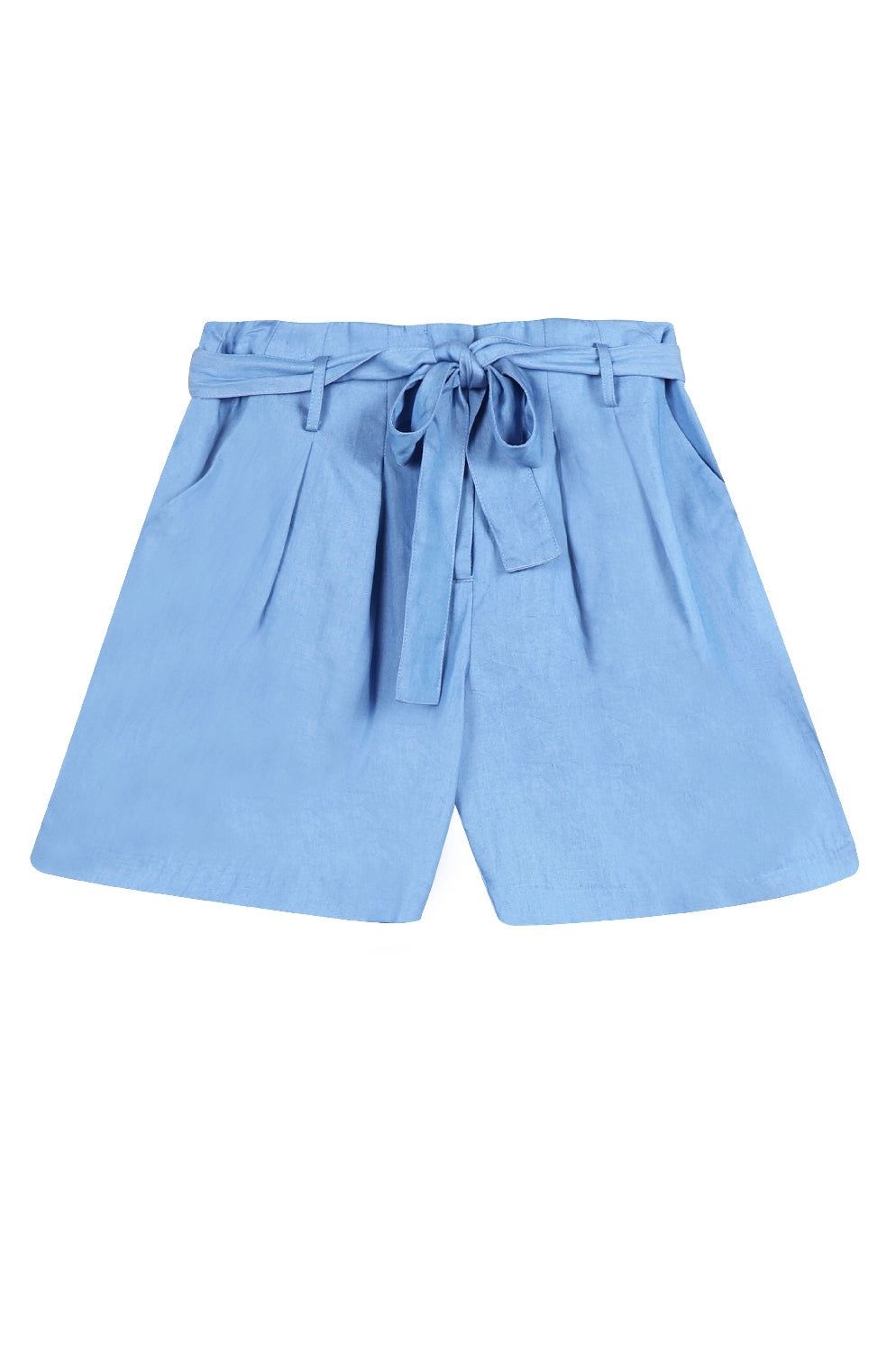 Paper Bag Short In Blue
