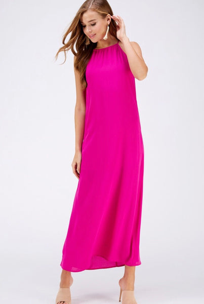 Solid Berry Maxi