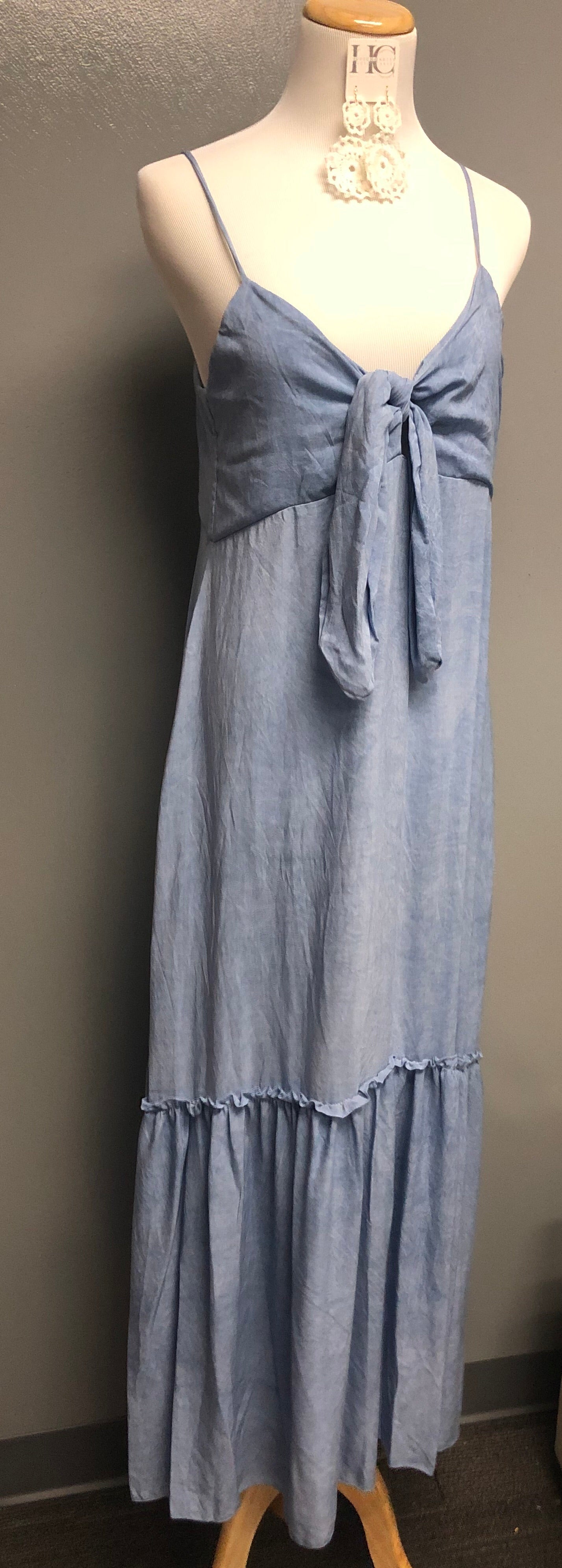 Maxi Cover-Up Dress In *Washed Blue*