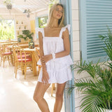 Frill short with elastic waistband