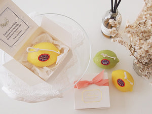 Set of 10 Lemon Pillar Soy Candle Favor