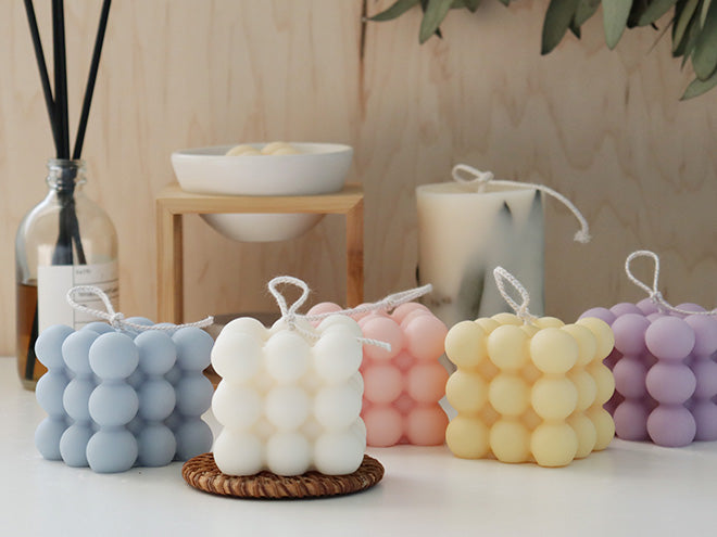 Cube Pillar Soy Candle