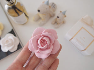 Romantic Rose Car Air Freshener with 5ml refill oil