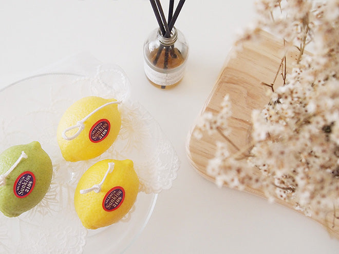 Lemon Pillar Soy Candle