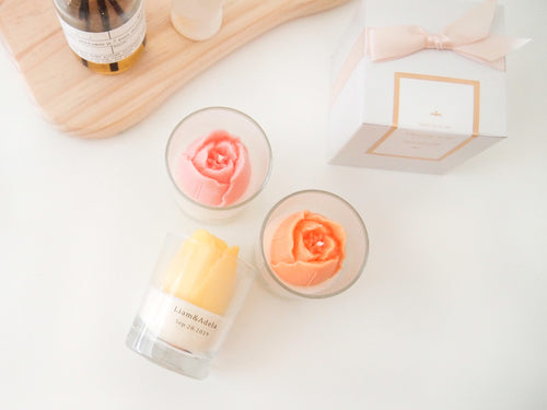 Set of 20 Tulip Soy Candle Favor