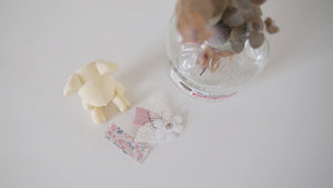 Set of 2 flower lace Girls Hair clip