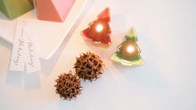 Set of 4 Pentagon Christmas Soy Candles