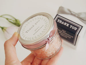 Set of 10 Pink Himalayan Bath Salt Favor