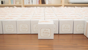 Set of 10 White Pudding soy candle favor