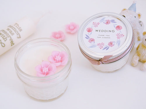 Set of 20 Cherry Blossom Soy Candle Favor