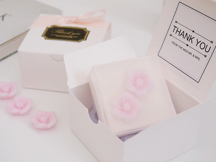 Set of 20 Cherry Blossom Goat Milk & Oatmeal Soap Favor