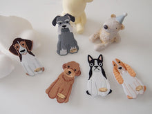 Embroidery Doggy Girls Hair clip claw