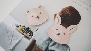 Bear&Rabbit leather hair clip