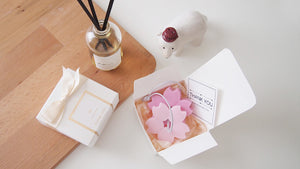 Cherry Blossom Pearl Goat Milk&Shea Butter Soap with bubble bag