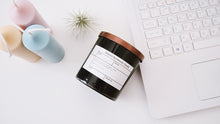 8oz Black JAR Soy Candle with Bronze Metal Lid