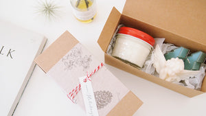 Christmas Gift Set (Soy Candle,Tealight,Soy Ornament)