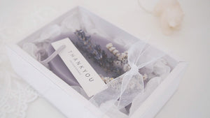 Scented Lavender Dried Flower Soy Wax Tablet