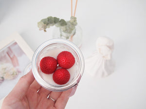 Set of 10 Strawberry Soy Candle Favor (Free Shipping)