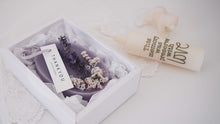 Set of 10 Scented Lavender Dried Flower Soy Wax Tablet Favor