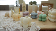 Set of Mini Cube Pillar Soy Candle with Soy Tealights