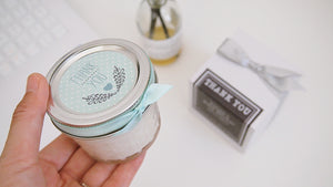 Set of 20 Mint to be Soy Candle Favor