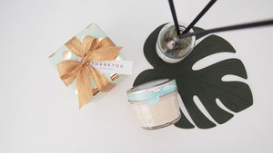 Set of 20 Mint&Gold Soy candle with gift-wrap