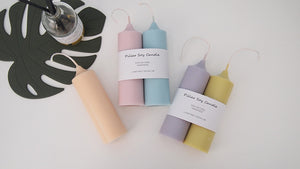 Set of 2 Cylinder/Dome Pillar Soy Candle
