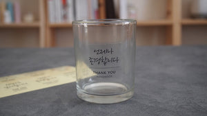 Set of 8 Thank you clear label