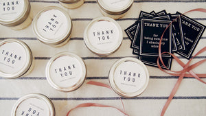 Set of 20 Simple Thank you Candle Favor