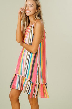 Samara Striped Halter Dress