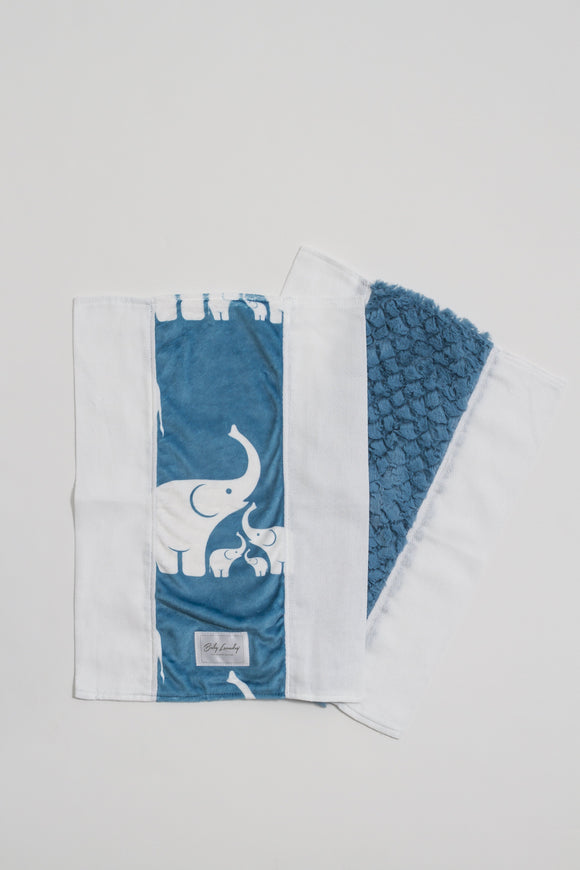 Coastal Blue Elephant Burpie Set